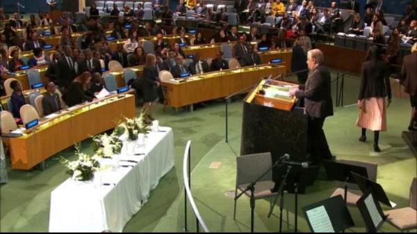 الدولي يشارك الاحتفال باليوم من أجل تعزيز السلام بقصر الأمم المتحدة بنيويورك