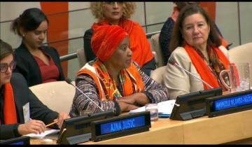 التحالف الدولى :يشارك بالاحتفال باليوم العالمي للقضاء على العنف ضد المراة بحضورالأمين العام للأمم المتحدة بنيويورك