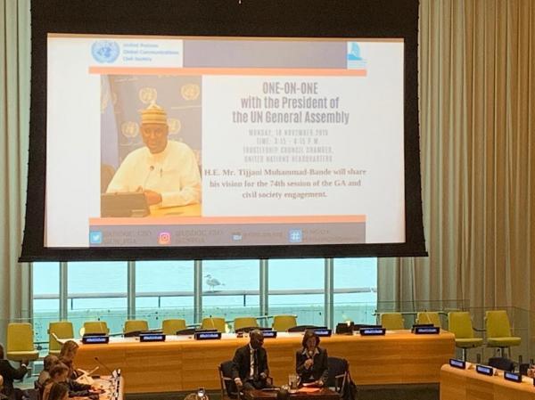 التحالف الدولى يشارك بالأجتماع الرفيع مع رئيس الجمعية العامة للأمم المتحدة بنيويورك حول الدورة القادمة ومشاركة المجتمع المدني