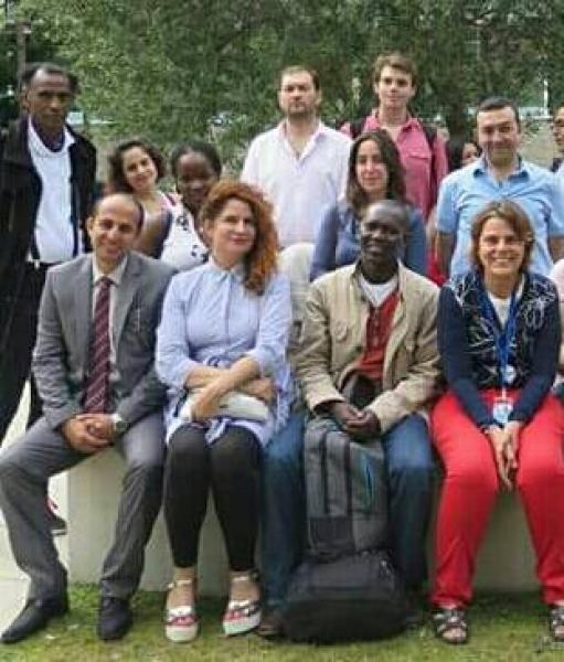 صورة جماعية لرئيس التحالف بمنظمة اليونيسكو
