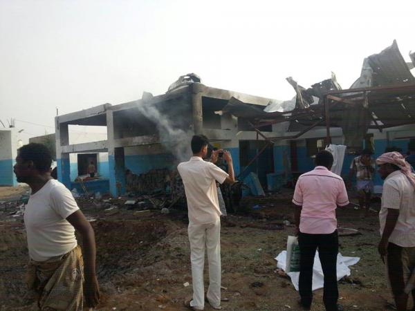 """التحالف الدولي:يدين بشدة القصف الوحشي لمستشفى بلا حدود باليمن ويصفة ب""""جريمة حرب"""""""