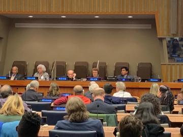 التحالف الدولي:  يشارك بالأجتماع المخصص للأستماع لضحايا العنف والناجين من الأضطهاد بقصرالأمم المتحدة بنيويورك