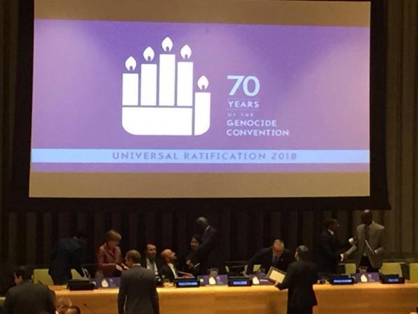 التحالف الدولي يشارك بالأمم المتحدة بالنداء العالمي للتصديق على الإبادة الجماعية واليوم العالمي لحقوق الأنسان