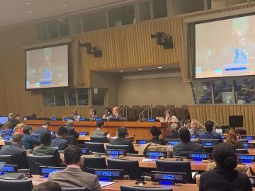 التحالف الدولي يشارك بأجتماعات اللجنة الرابعة بالجمعية العامة للأمم المتحدة بنيويورك
