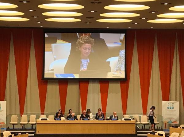 التحالف الدولي يشارك بالجلسة العامة لمناقشة الشوؤن الانسانية والأجتماعية بمقر الأمم المتحدة بنيويورك