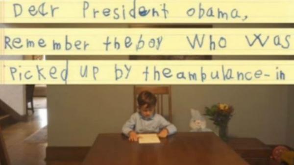 US enfant envoie un message à Obama appelant à un réfugié »de rester dans sa maison