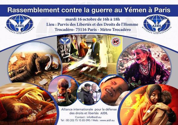 Rassemblement contre la guerre au Yémen à Paris 16 Octobre