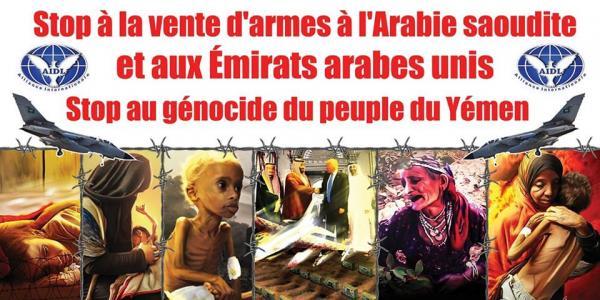 Appel à un Rassemblement à 14h Place de la République à Paris pour : Yémen