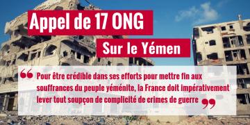 Après la mise en cause de la France par des experts de l'ONU sur le Yémen, AIDL Avec 16 ONG demandent l'arrêt immédiat des ventes d'armes