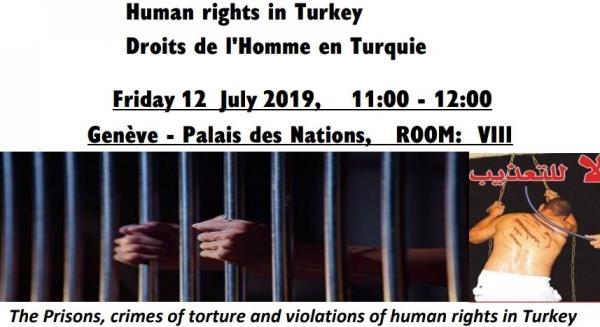 Les Prisons, crimes de torture  Et les violations des droits de l'Homme en Turquie