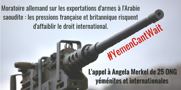 Four years of war in Yemen: 24 Yemeni and global NGOs call on Germany to extend its moratorium on arms sales to Saudi Arabia